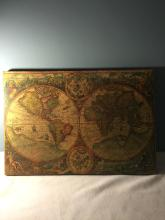 Antique Map Painted On Wood