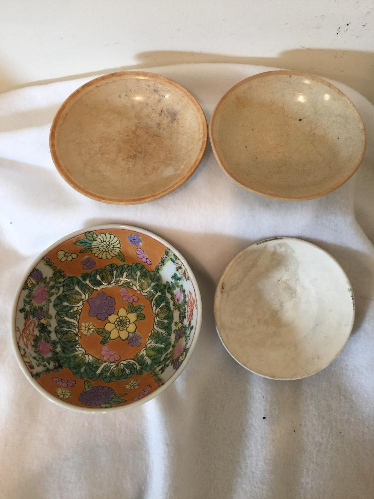 Four chinese antique bowl dishes for Asian antiques uk