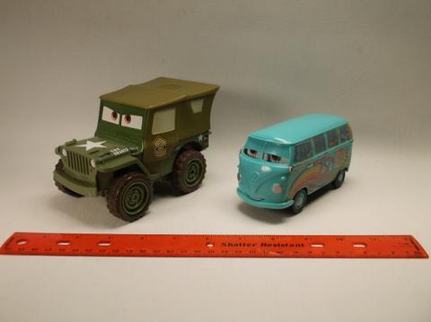 2 Large Disney Pixar Cars Movie Toys