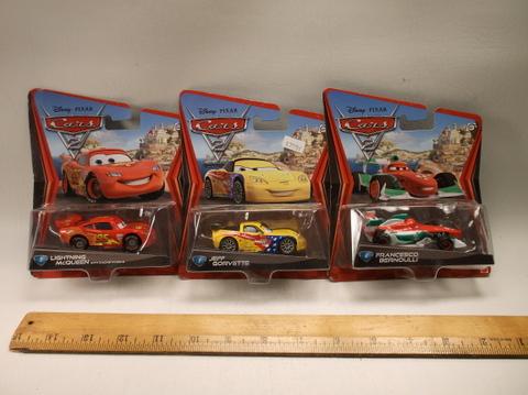 3 New Sealed Disney Pixar Cars Movie Car Lot Die Cast