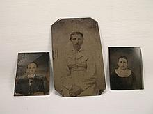 3 Antique Tin Type Photographs