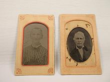 2 Antique Tin Type Photographs