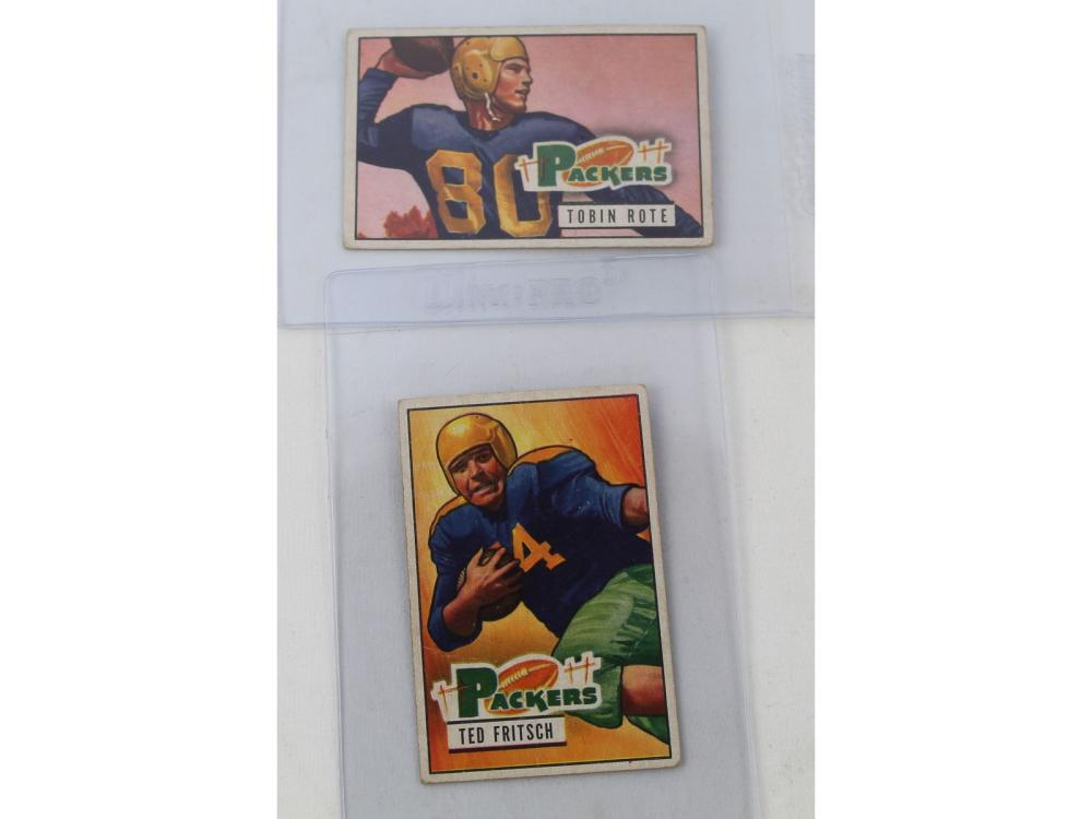 (27) 1951 Bowman Football Collection