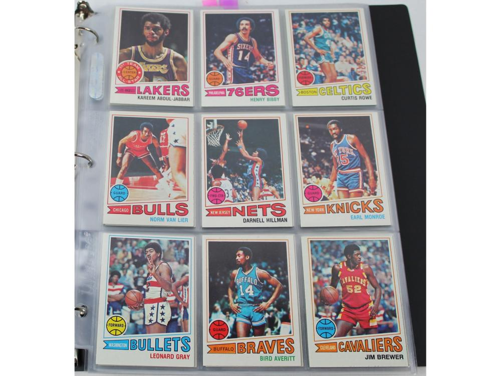 (132/132) 1977 Topps Basketball Complete Set