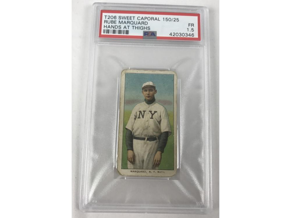 T206 Rube Marquard Hands At Thighs Psa 1.5