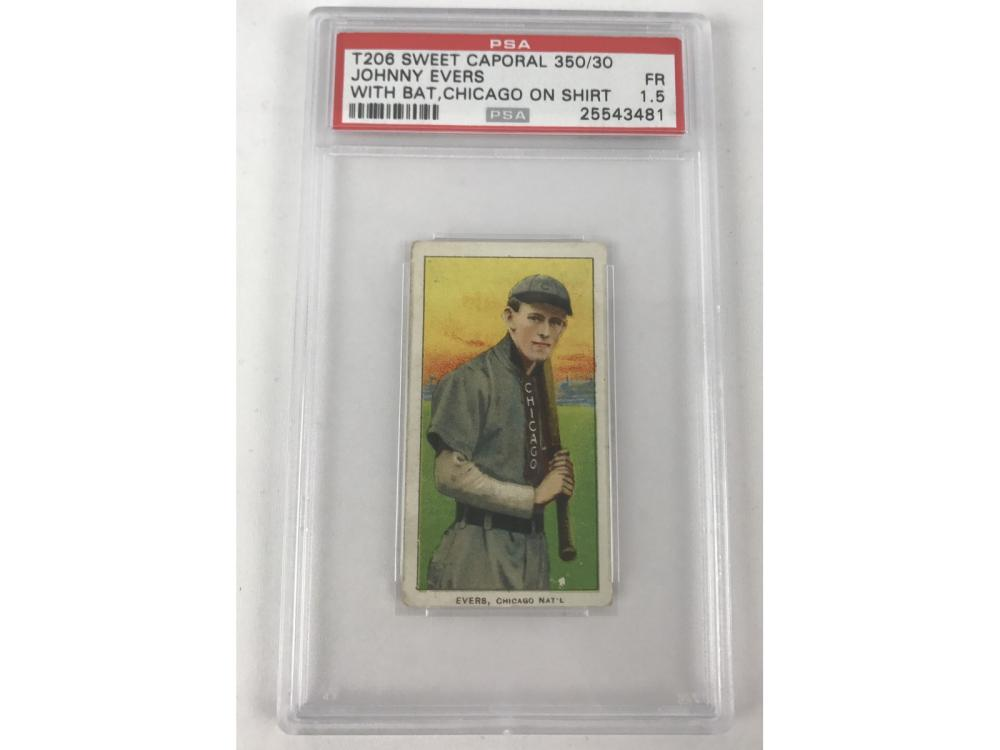 T206 Johnny Evers With Bat Psa 1.5