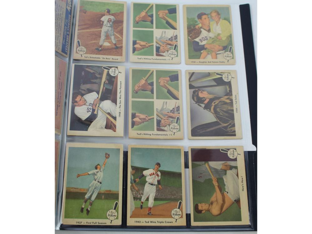 (27) 1959 Fleer Ted Williams Collection