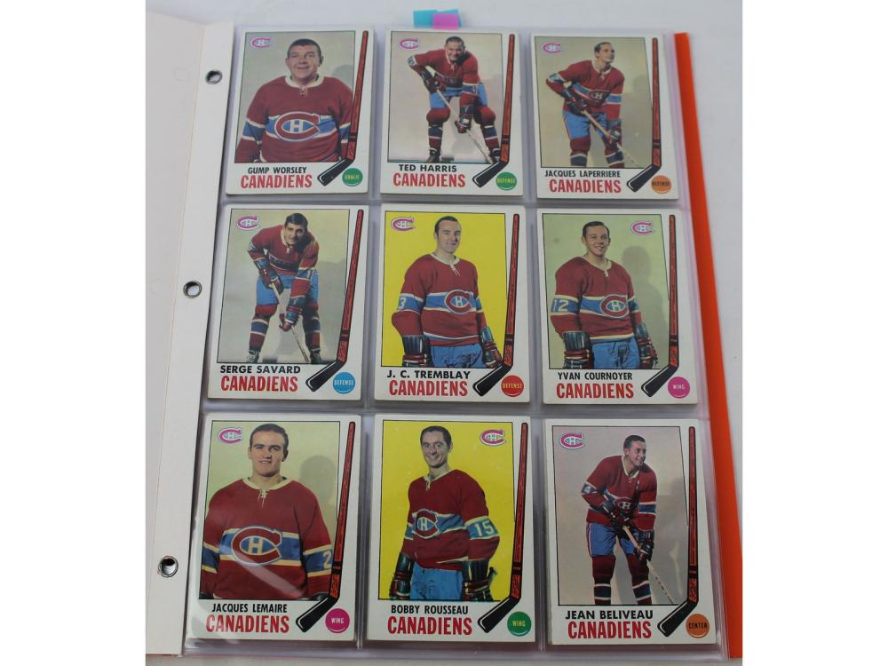(82/132) 1969 Topps Hockey Partial Set W/ Hofs