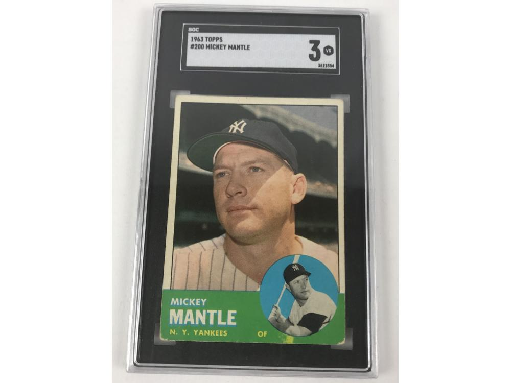 Sgc 3 1963 Topps Mickey Mantle #200