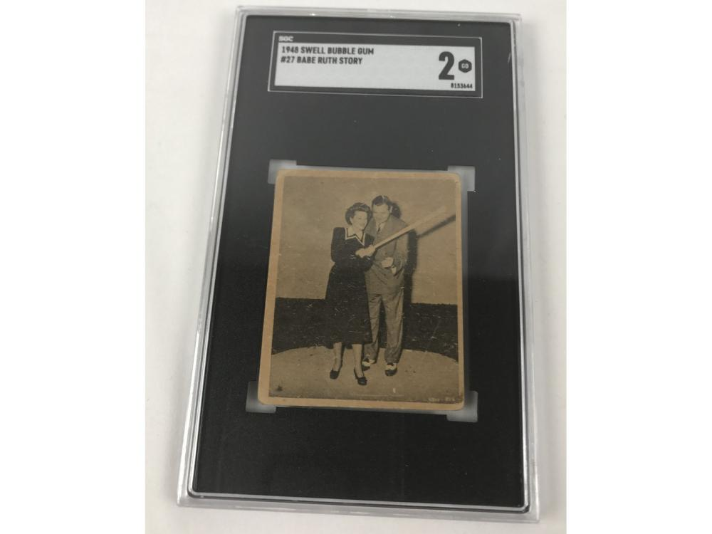 Sgc 2 1948 Swell Bubble Gum Babe Ruth #27