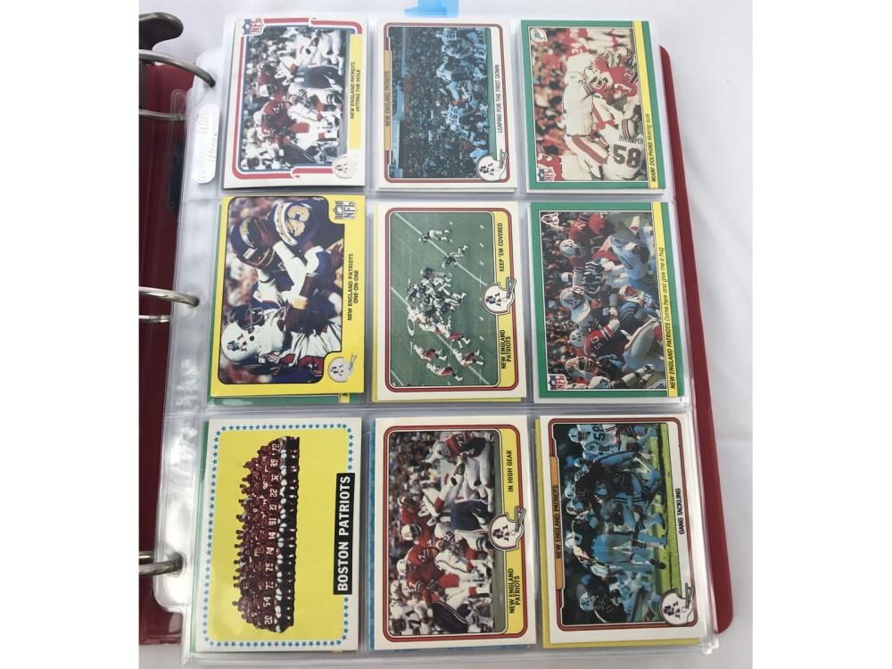 250+ New England Patriots Cards 60s/70s/80s