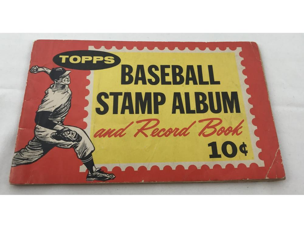 1962 Topps Baseball Stamp Album With Some Stamps