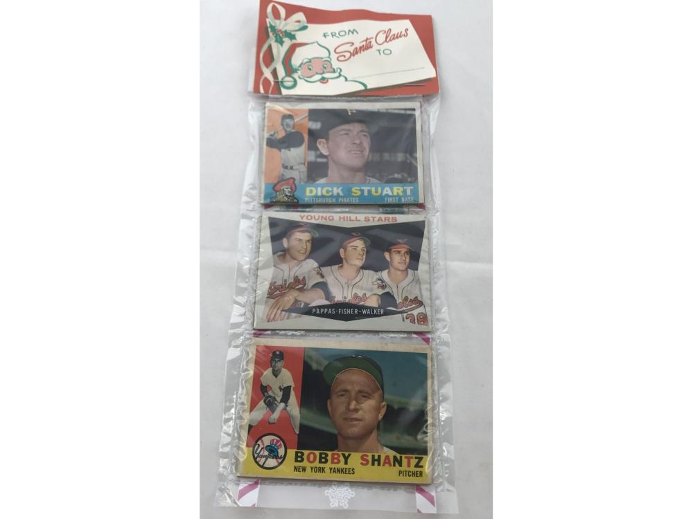 1960 Topps Christmas Rack Pack High Numbers