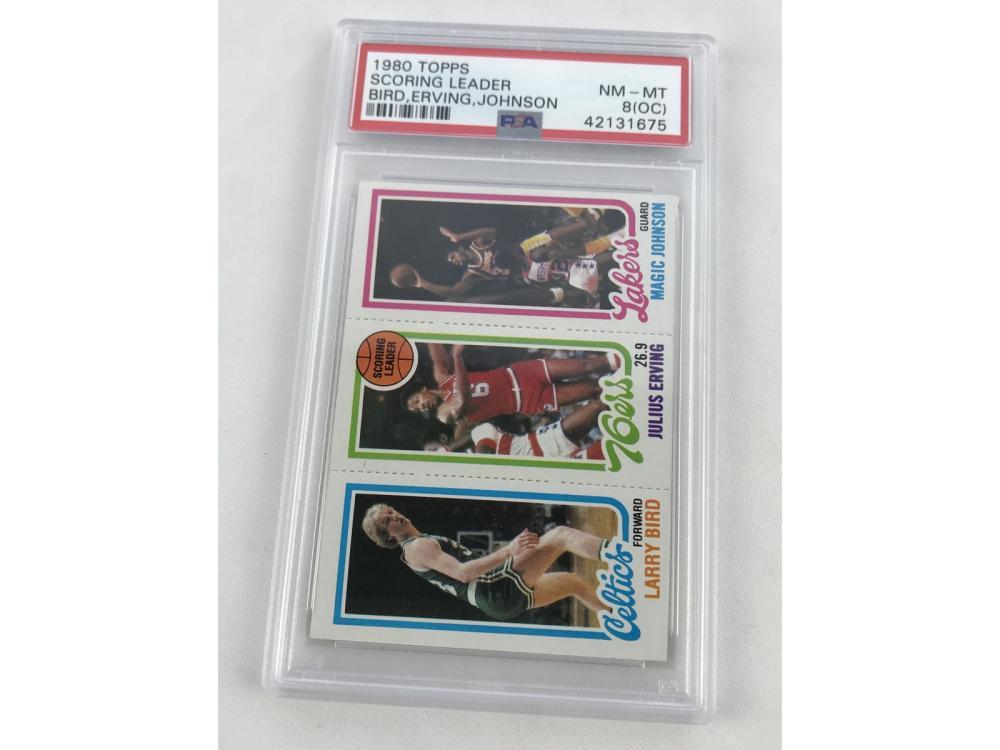 Psa 8(oc) 1980 Topps Bird/magic Rookie