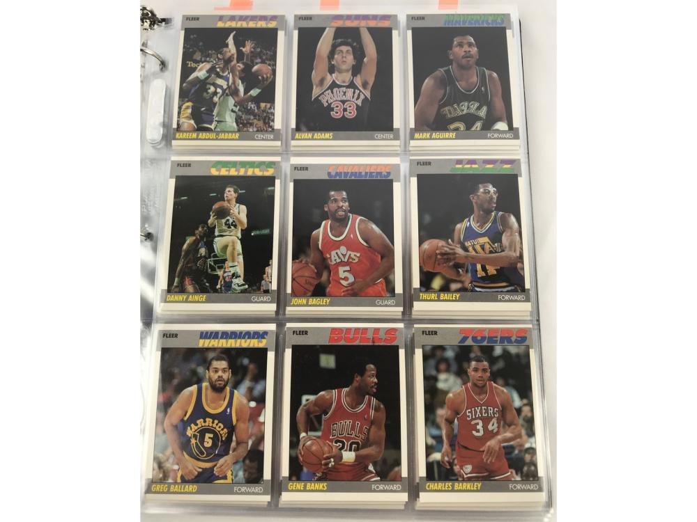 87 Fleer Basketball Complete Set W/ Sticker