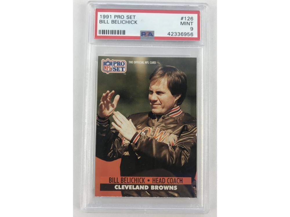 Psa 9 (mint) 1991 Pro Set Bill Belichick Rookie