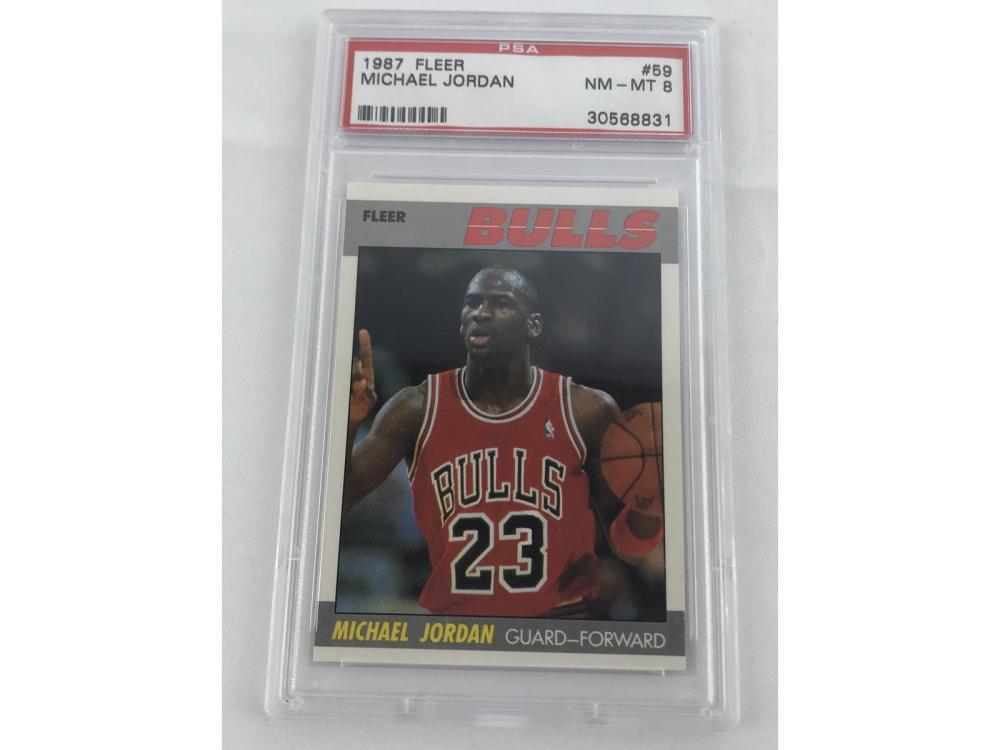 1987 Fleer Michael Jordan Psa 8