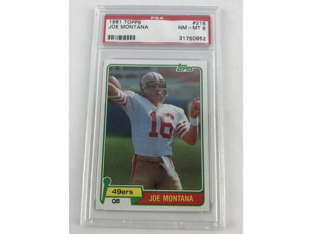 Psa 8 (nm-mt) 1981 Topps Joe Montana Rookie