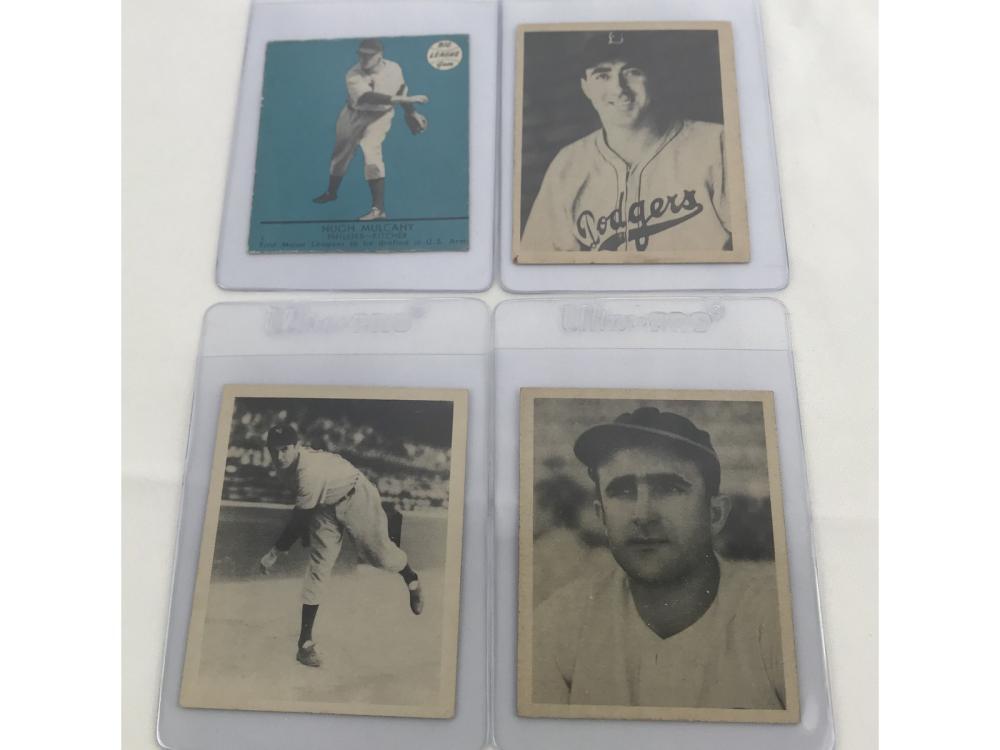 (4) 1939-41 Gum Baseball Cards (goudey/gum Inc)