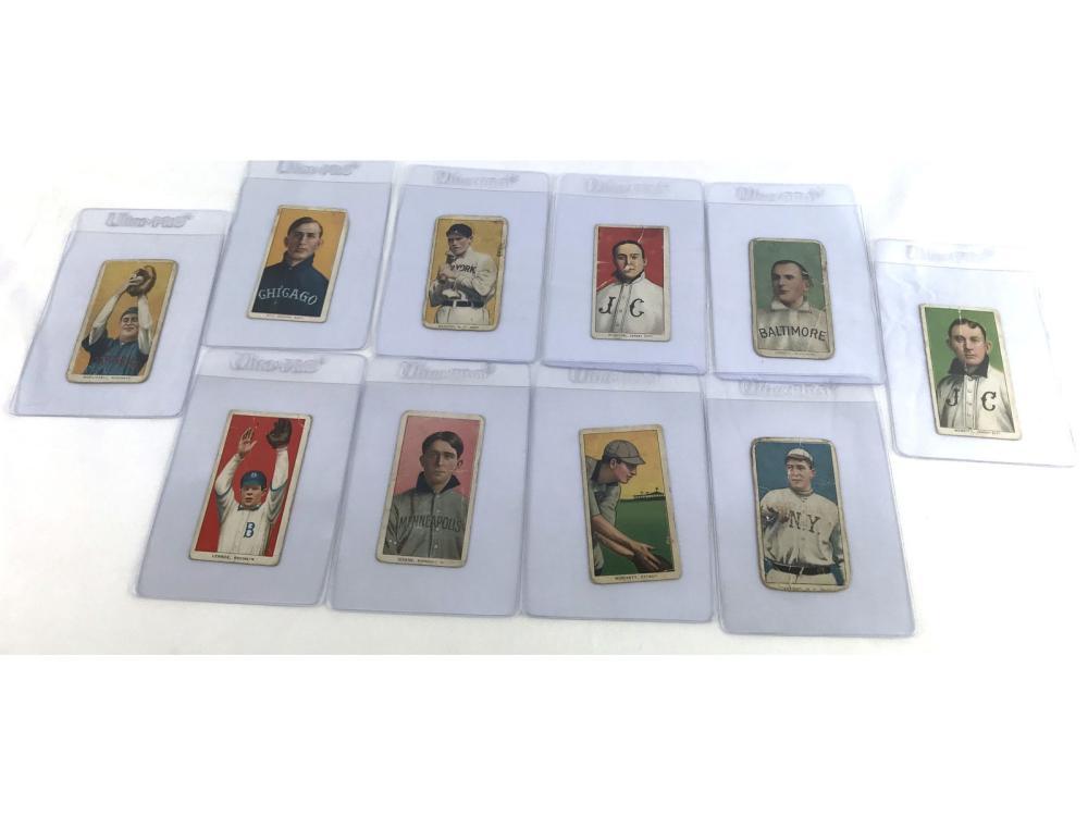 (10) 1909 T206 Tobacco Cards-fair To Good