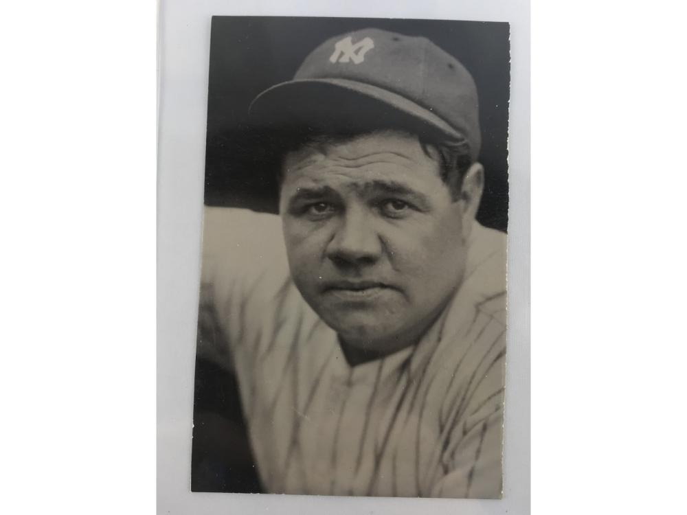 (3) Vintage Babe Ruth Postcards