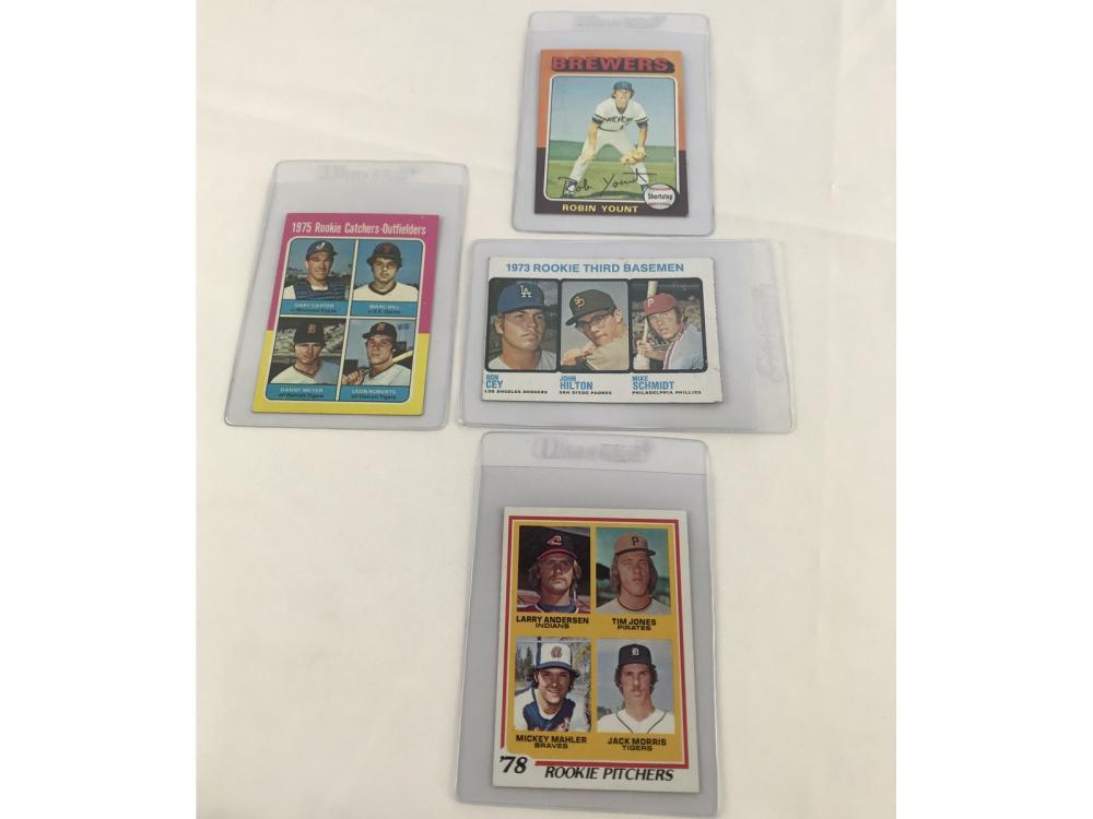 (4) 70s Baseball Rc Bv $225(schmidt/yount)