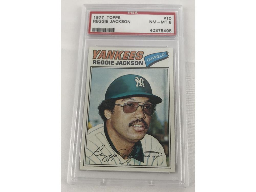 1977 Topps Reggie Jackson Psa 8