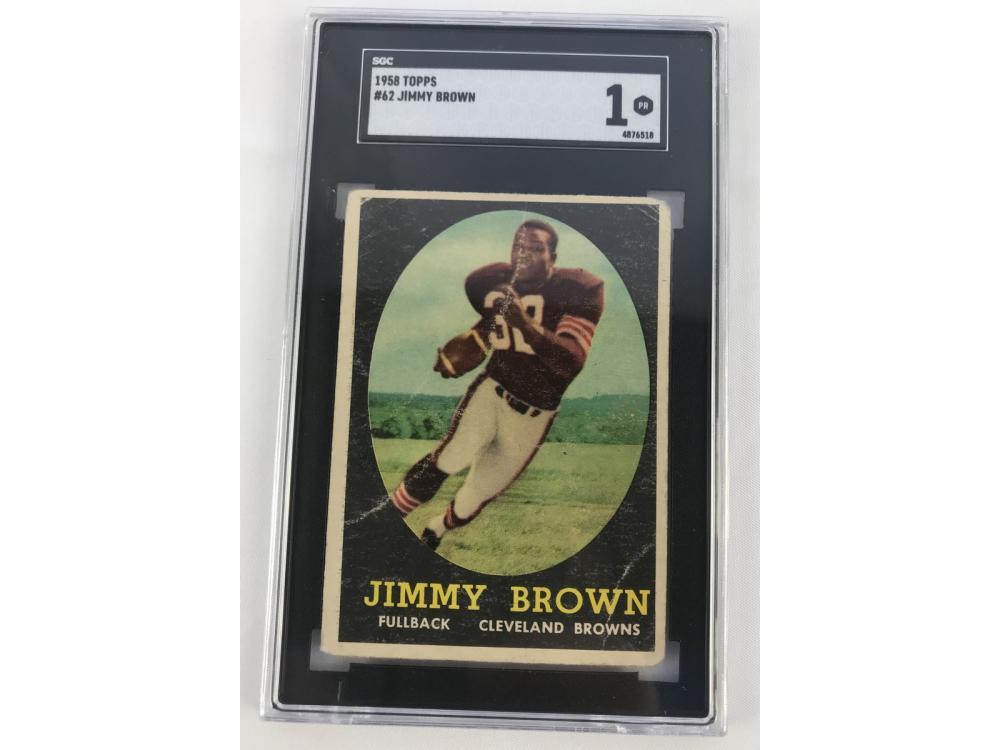 Sgc 1 - 1958 Topps Jim Brown #62 - Rookie