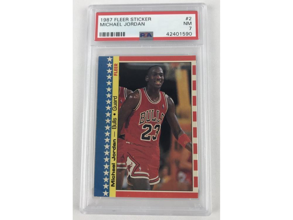 (4) Psa Highly Graded Michael Jordans (1987-99)