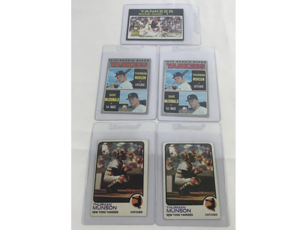 (17) Thurman Munson Cards Incl. 2 Rookies
