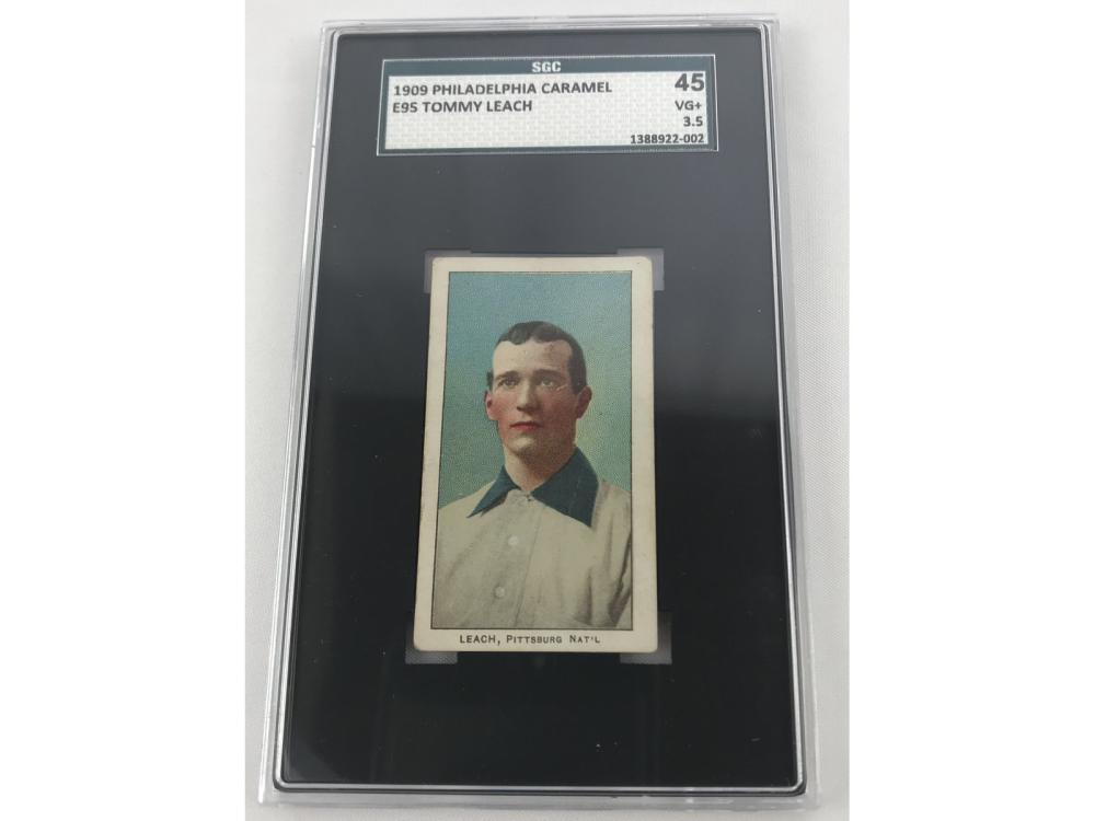 1909 Philadelphia Caramel Tommy Leach Sgc 45