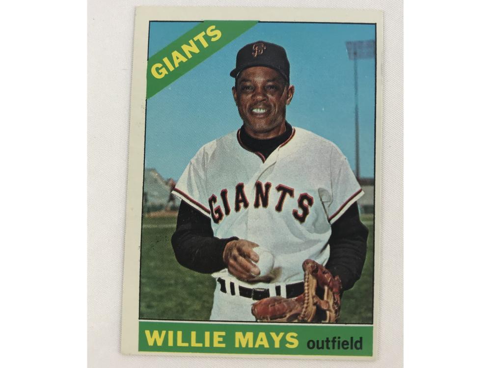 (nm) 1966 Topps Willie Mays #1 Bv $250