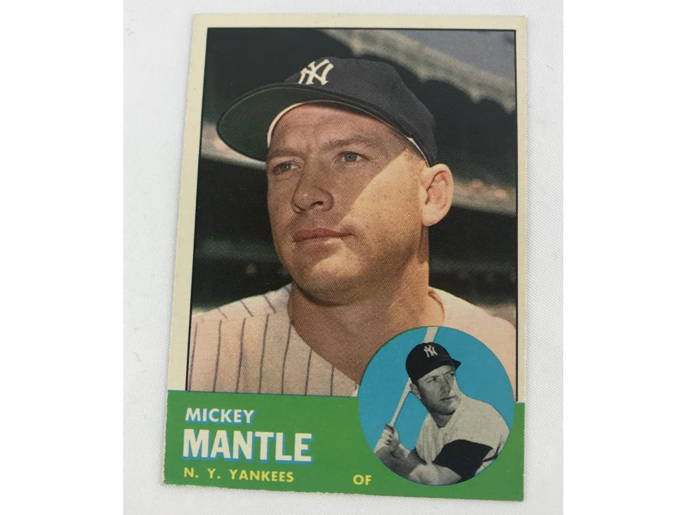 Beckett (restored) 1963 Topps Mickey Mantle