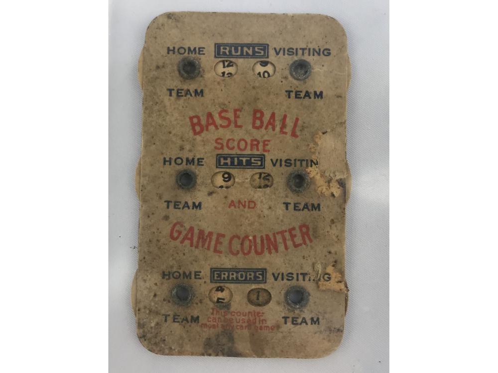 Circa 1900 Vintage Baseball Hand Scorer