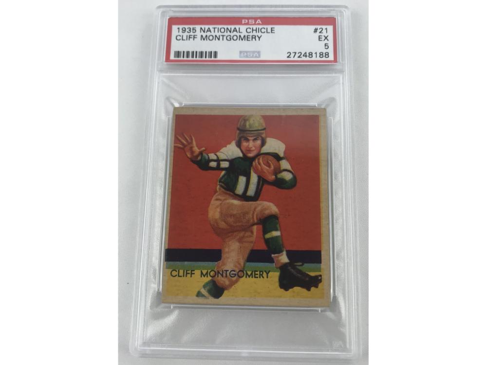 1935 National Chicle Cliff Montgomery Psa 5