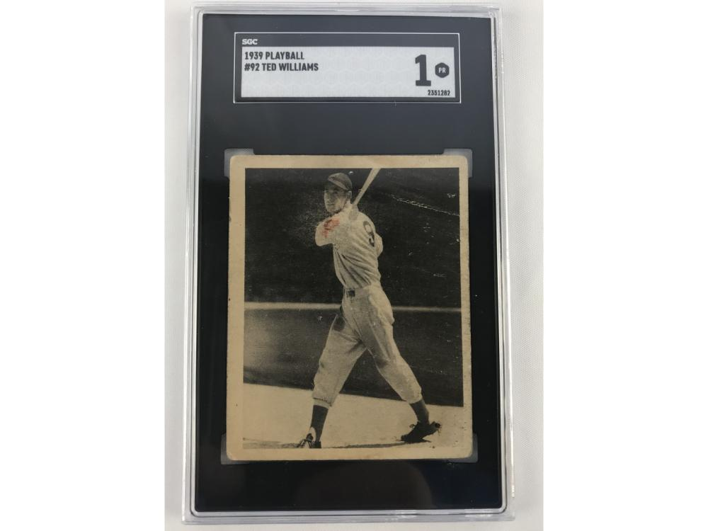 Sgc 1 1939 Play Ball Ted Williams #92 - Rookie