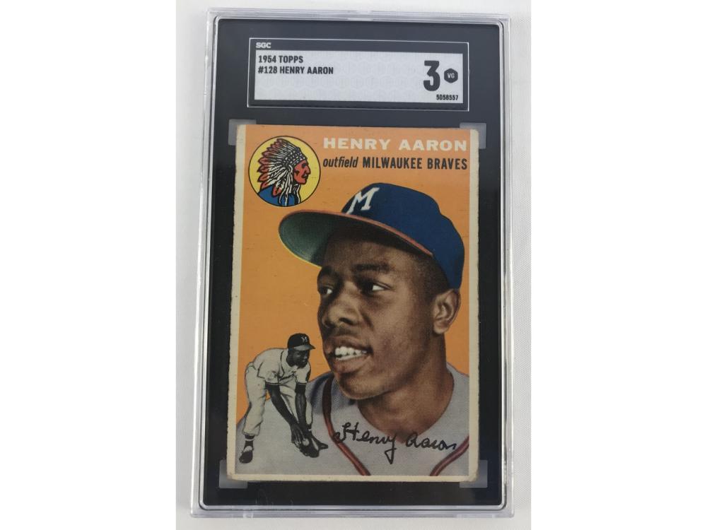 Sgc 3 - 1954 Topps Hank Aaron - Rookie
