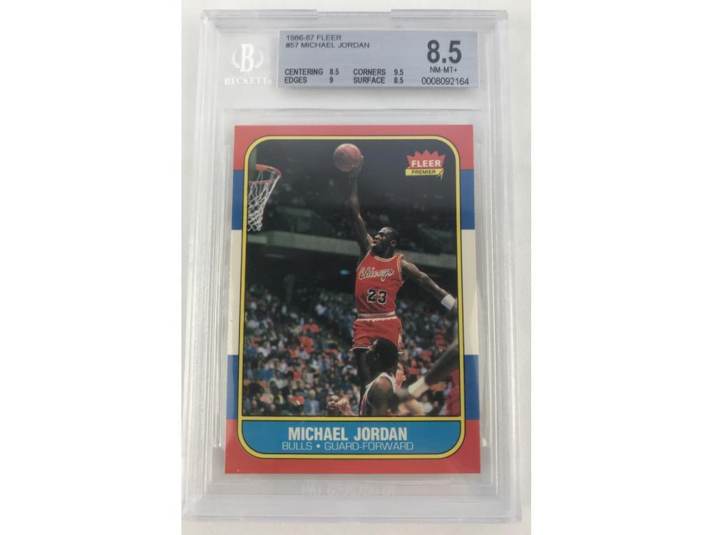 Beckett 8.5 1986 Fleer Michael Jordan Rookie