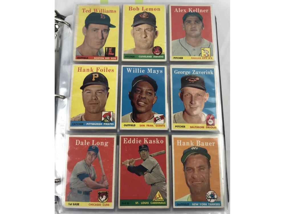 (495/495) 1958 Topps Baseball Complete Set