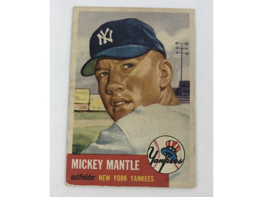 Well Centered 1953 Topps Mickey Mantle #82