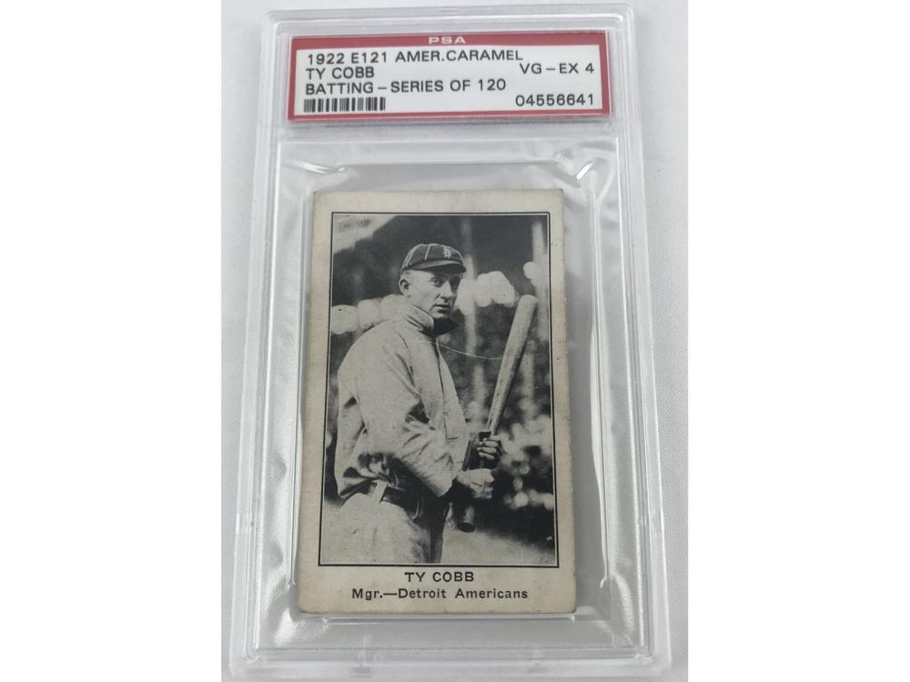 1922 E121 Ty Cobb Batting American Caramel Psa 4