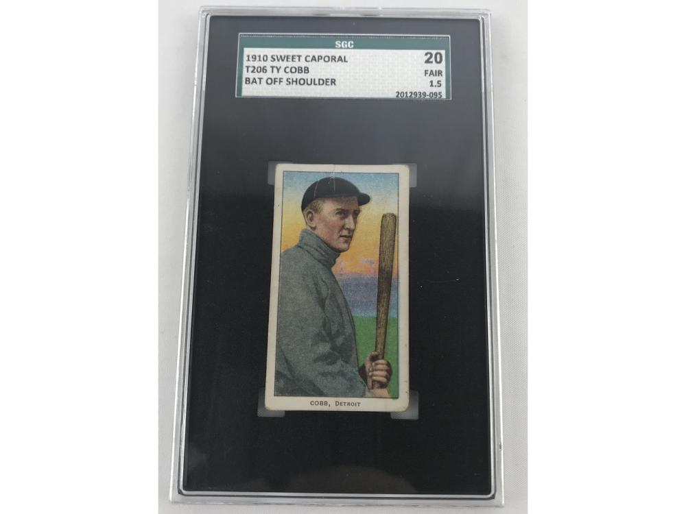 1910 T206 Ty Cobb Bat Off Shoulder Sgc 20