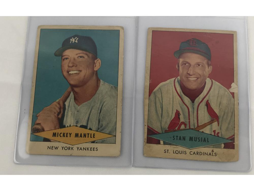 1954 Red Heart Dog Food Complete Set-mantle/musial