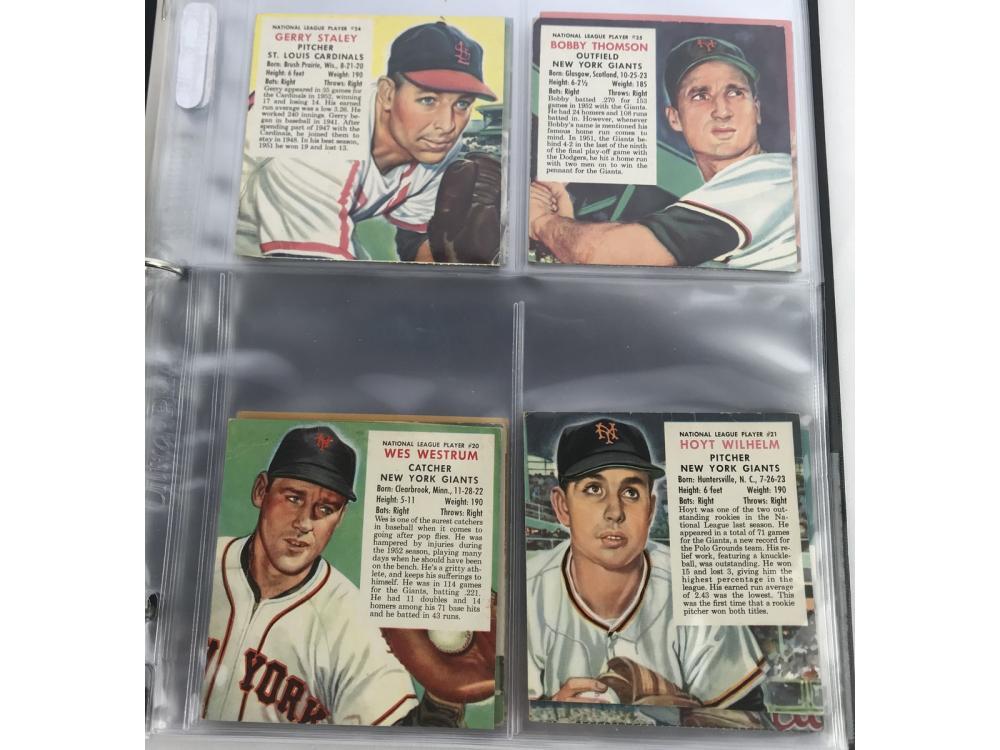 (52/52) 1953 Red Man Baseball Complete Set