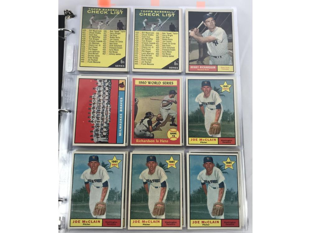 (319) 1961 Topps Baseball Bv $1,602