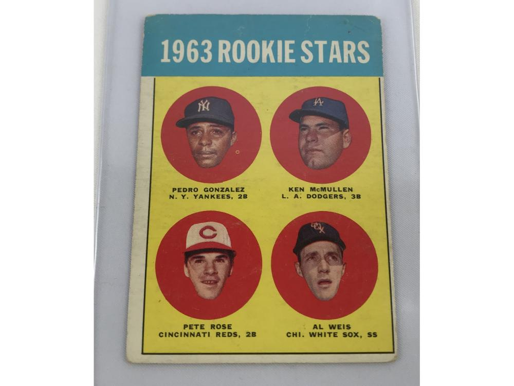 1963 Topps Pete Rose Rc #537