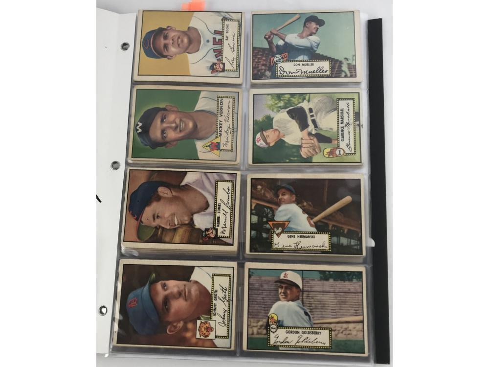 (38) 1952 Topps Baseball Bv $1,830