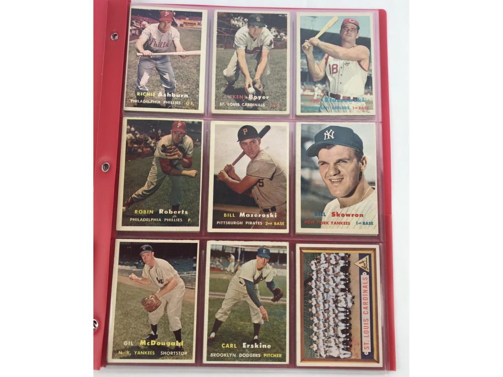 (24) 1957 Topps Bv $648 - Hofs/stars