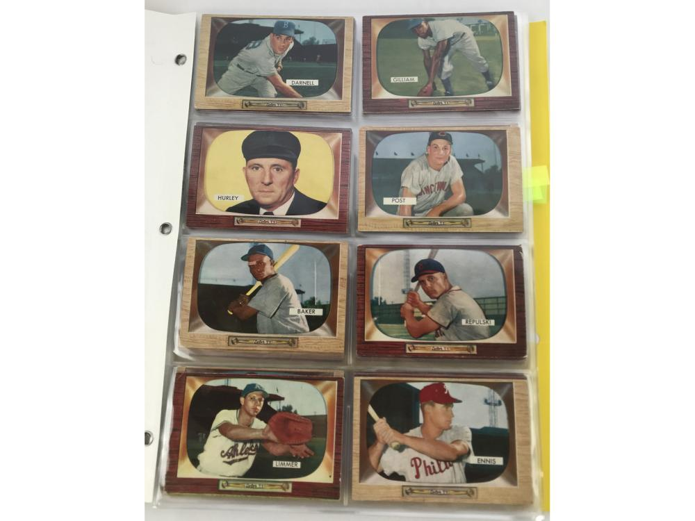 (56) 1955 Bowman Baseball W/ High #s/umps