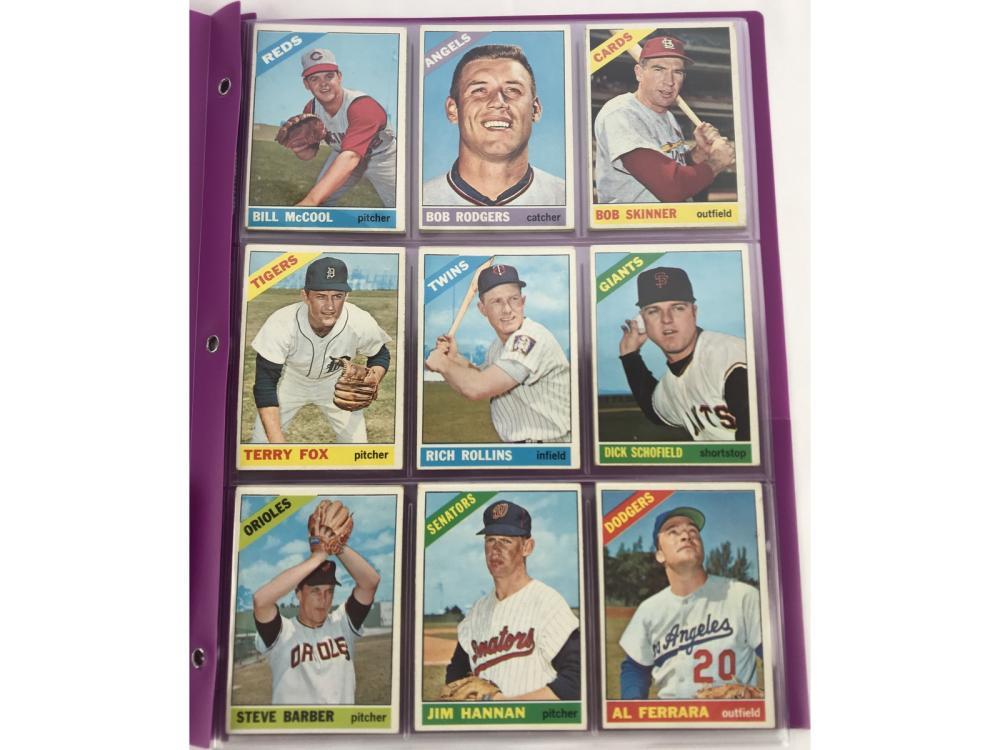 (22) 1966 Topps Semi-high Numbers Bv $225